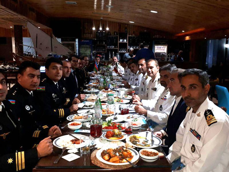 ناوگروه نیروی دریایی جمهوری آذربایجان مهمان ویژهی هتل دلفین